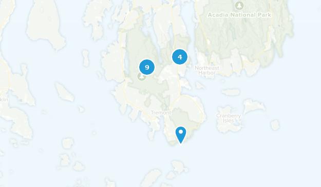 Southwest Harbor, Maine Forest Map