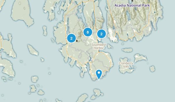 Southwest Harbor, Maine Hiking Map