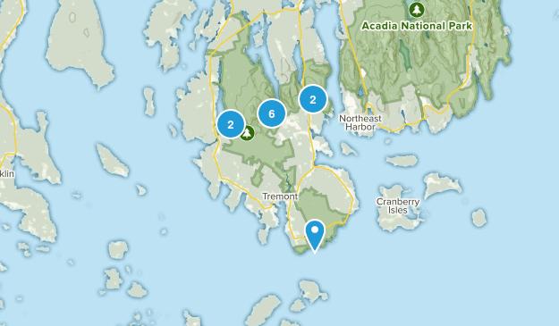 Southwest Harbor, Maine Nature Trips Map