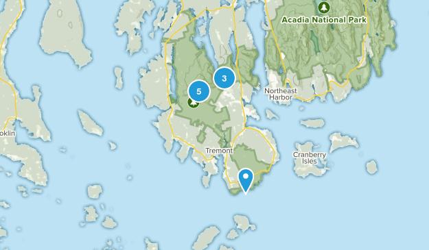 Southwest Harbor, Maine Trail Running Map