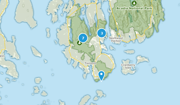 Southwest Harbor, Maine Wild Flowers Map