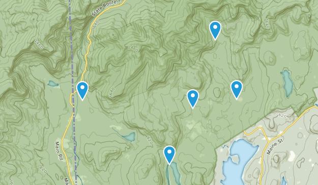 Stoneham, Maine Hiking Map