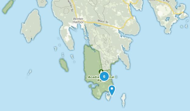 Winter Harbor, Maine Hiking Map