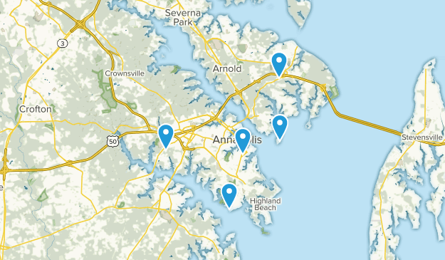 Annapolis, Maryland Hiking Map