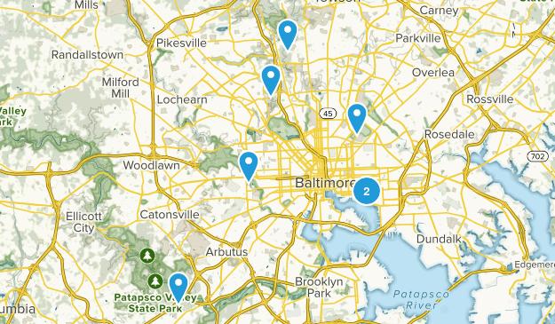 Baltimore, Maryland Birding Map