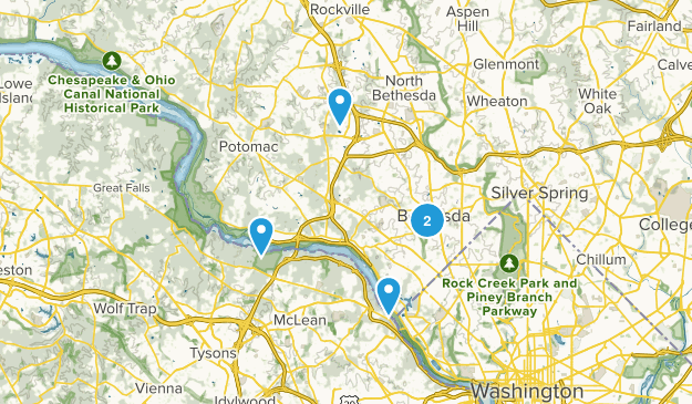 Bethesda, Maryland Trail Running Map