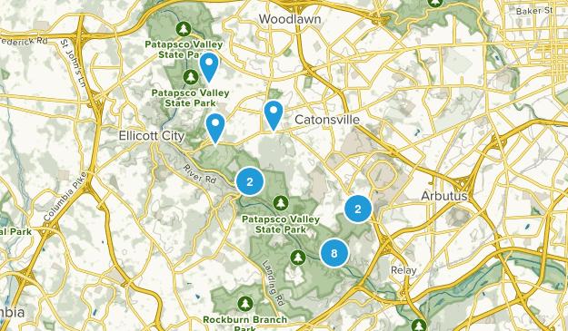 Catonsville, Maryland Birding Map