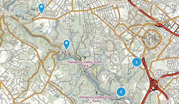 Catonsville, Maryland Dogs On Leash Map