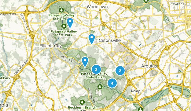 Catonsville, Maryland Kid Friendly Map