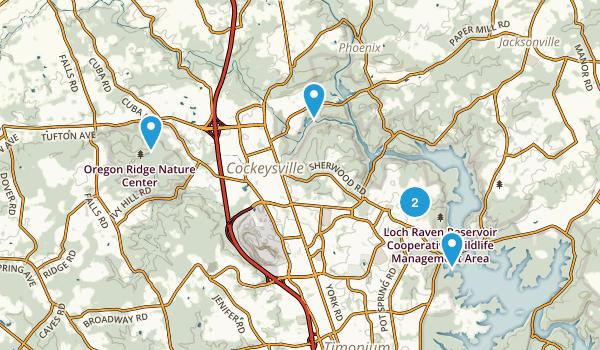 Cockeysville, Maryland Trail Running Map