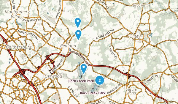 Derwood, Maryland Trail Running Map