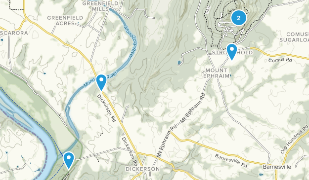 Dickerson, Maryland Nature Trips Map