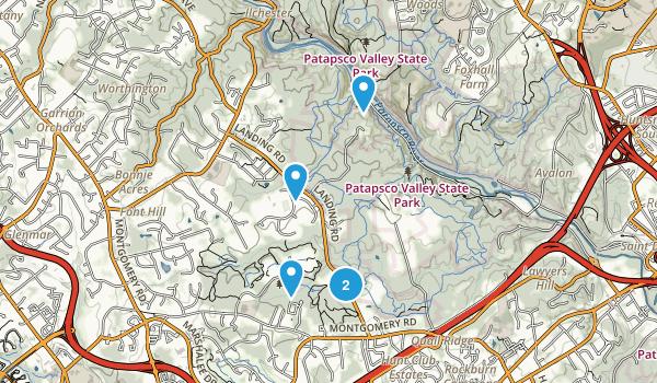 Elkridge, Maryland Nature Trips Map