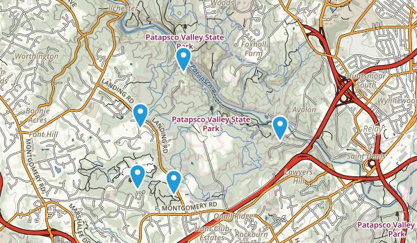 Elkridge, Maryland Walking Map