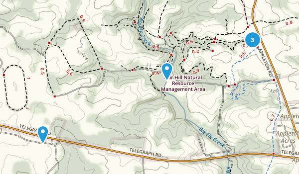 Elkton, Maryland Hiking Map