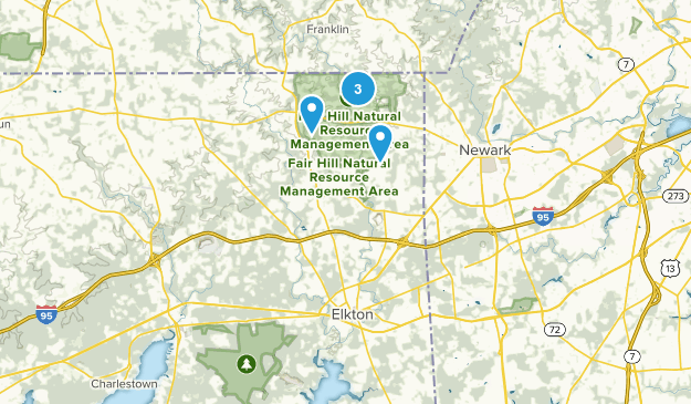Elkton, Maryland Horseback Riding Map