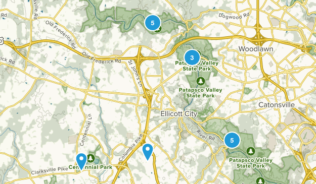 Ellicott City, Maryland Birding Map