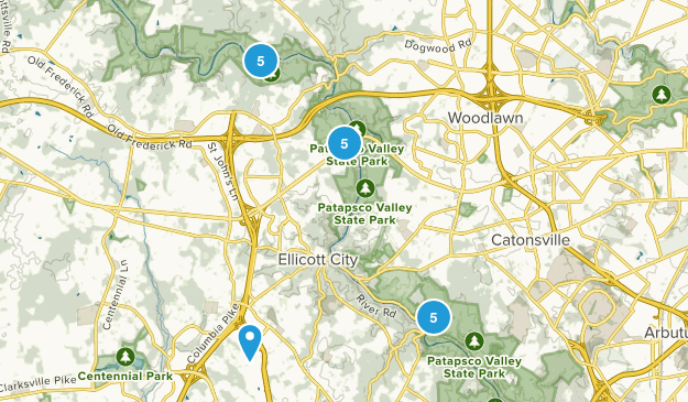 Ellicott City, Maryland Nature Trips Map