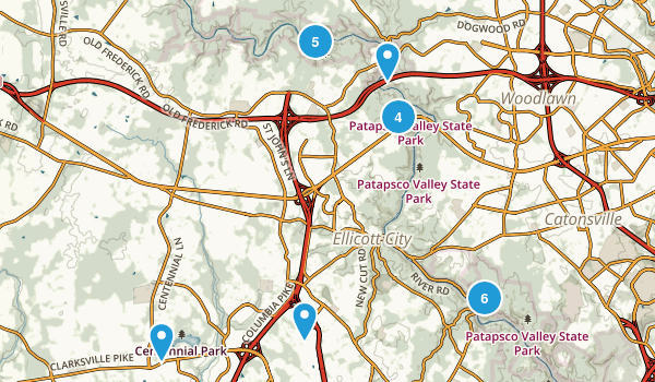Ellicott City, Maryland Walking Map