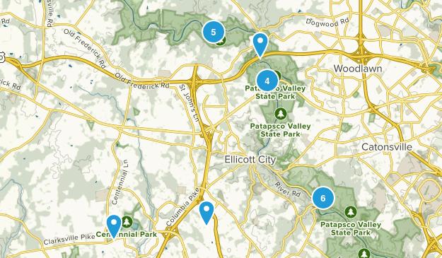 Ellicott City, Maryland Walking Map