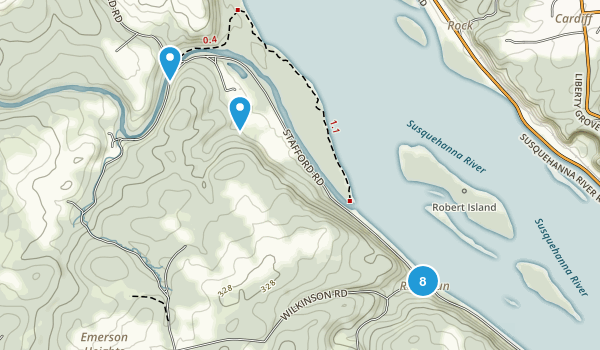 Havre de Grace, Maryland Hiking Map