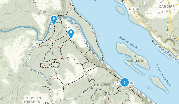 Havre de Grace, Maryland Mountain Biking Map