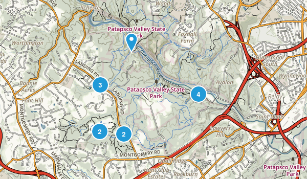 Ilchester, Maryland Trail Running Map