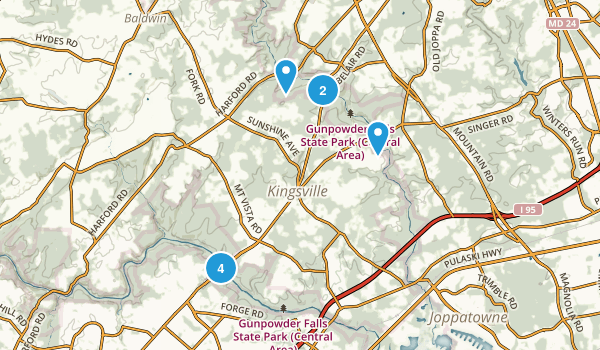 Kingsville, Maryland Birding Map