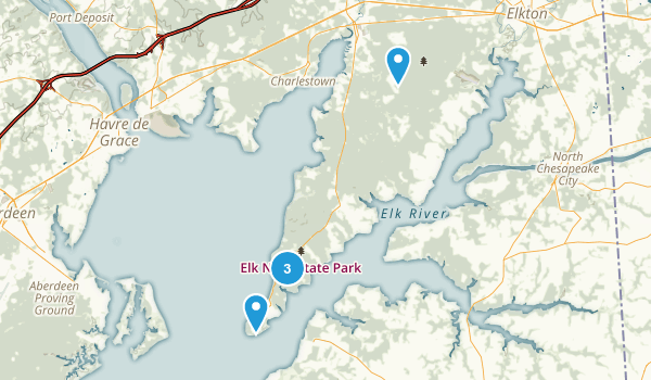 North East, Maryland Hiking Map