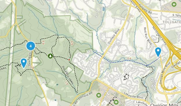 Owings Mills, Maryland Birding Map