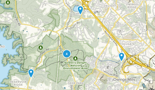 Owings Mills, Maryland Nature Trips Map