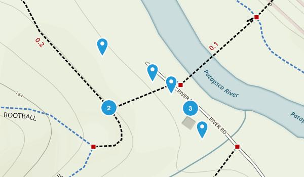 Patapsco Woods, Maryland Dogs On Leash Map