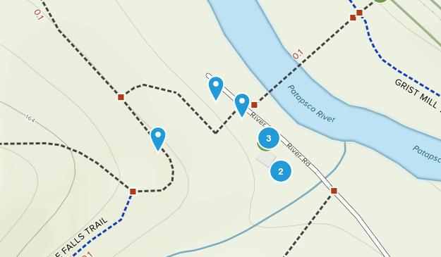 Patapsco Woods, Maryland Trail Running Map