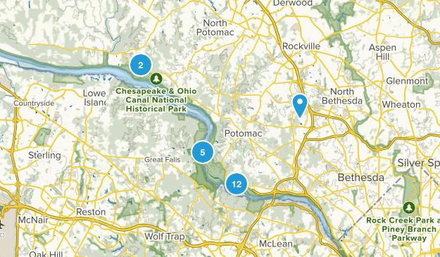 Potomac, Maryland Hiking Map