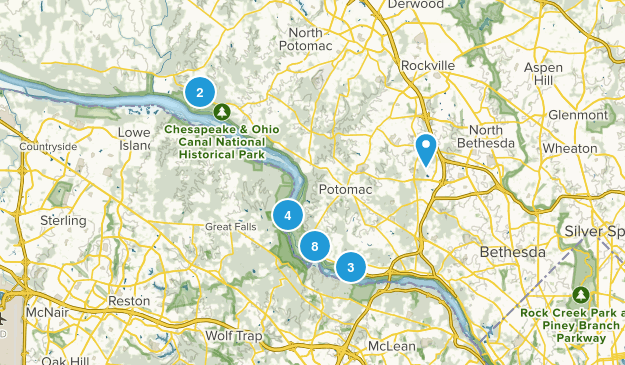 Potomac, Maryland Nature Trips Map