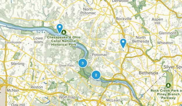 Potomac, Maryland Wild Flowers Map