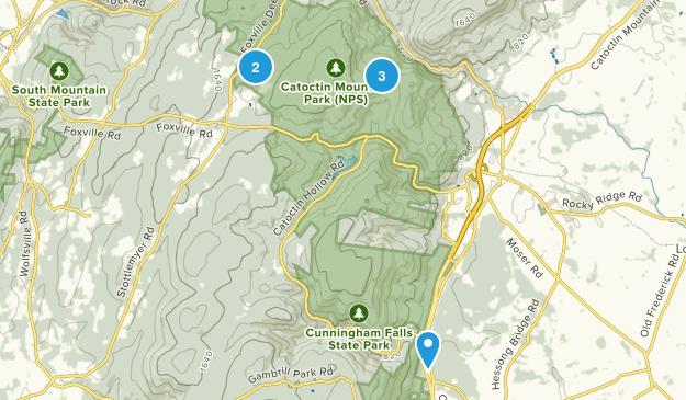 Sabillasville, Maryland Dogs On Leash Map