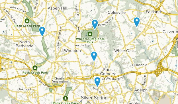 Silver Spring, Maryland Walking Map
