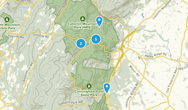 Thurmont, Maryland Dogs On Leash Map