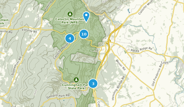 Thurmont, Maryland Hiking Map
