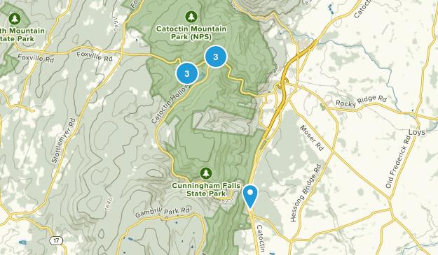 Thurmont, Maryland Waterfall Map
