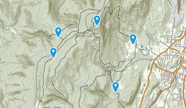 Adams, Massachusetts Dogs On Leash Map