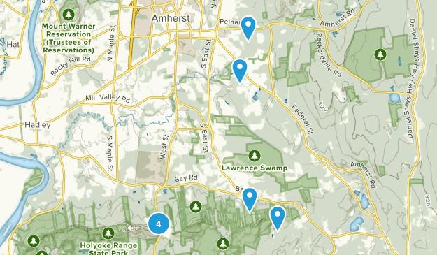 Amherst, Massachusetts Birding Map