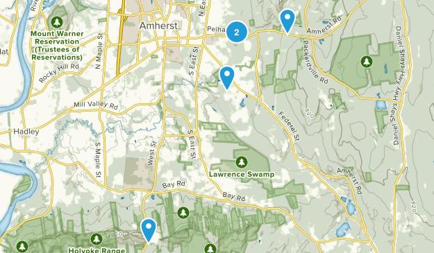 Amherst, Massachusetts Dog Friendly Map