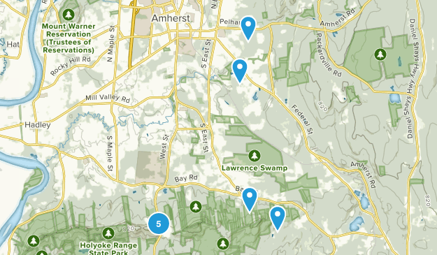 Amherst, Massachusetts Views Map