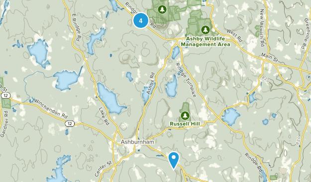 Ashburnham, Massachusetts Nature Trips Map