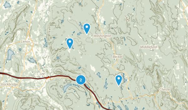 Becket, Massachusetts Hiking Map