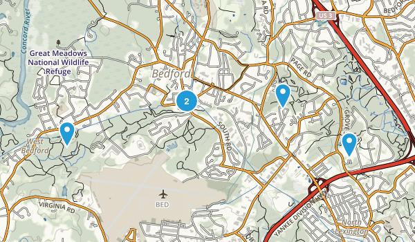 Bedford, Massachusetts Trail Running Map