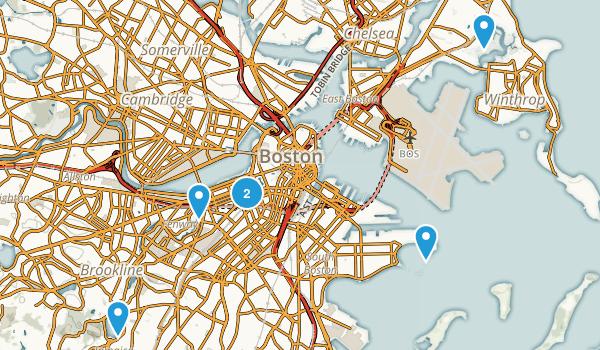 boston machusetts dog friendly map