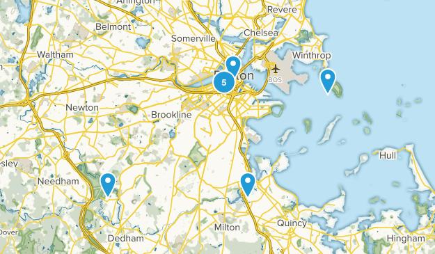 Boston, Massachusetts Dogs On Leash Map